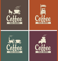 Set of coffee banners for coffeehouse vector