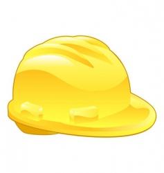 Shiny yellow hard hat vector