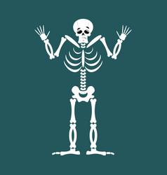 skeleton surprised emoji skull astonished emotion vector image