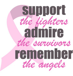 Support admire remember on white background vector