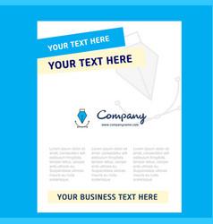 title page design for company profile annual vector image