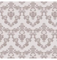Vintage damask floral pattern vector image