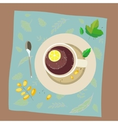 With the image of a cup of tea vector