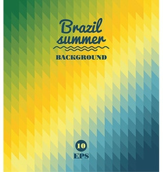 geometric background in Brazil flag concept vector image