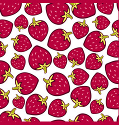 Strawberry seamless pattern doodle berry design vector