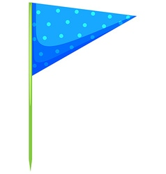 Blue triangle flag on the stick vector image
