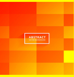 Bright orange tiles abstract background vector