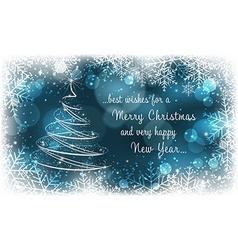 Christmas postcard New Year greeting card vector image vector image