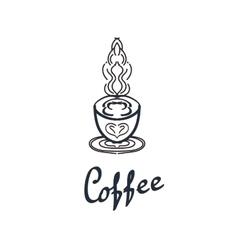 Coffee shop logo design template Retro coffee vector image vector image