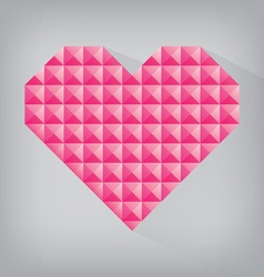 pink retro heart triangle abstract love valentine vector image