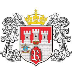 coat of arms of radom city in masovian vector image vector image