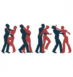 female self defense vector image vector image
