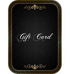 Gift card black vector image vector image