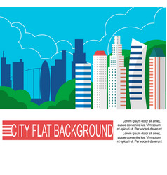 modern city landscape with high skyscrapers vector image vector image