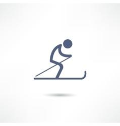 skier icon vector image vector image