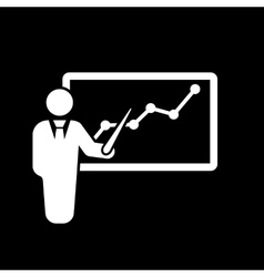 The Presentation icon Presentation and lectures vector image vector image