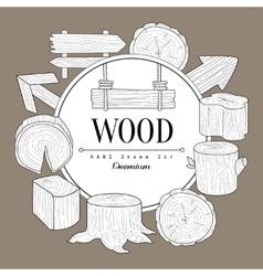 Wood Vintage Sketch vector image vector image