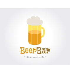 Abstract beer logo template for branding vector image