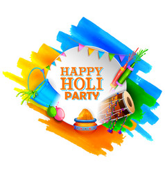 abstract colorful happy holi background card vector image
