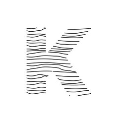 Abstract line initial k vector