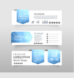 abstract of infographic web banner modern low vector image