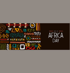 Africa day may 25 abstract ethnic tribal art vector