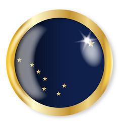 Alaska flag button vector