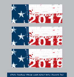 American flag independence day timeline cover - vector