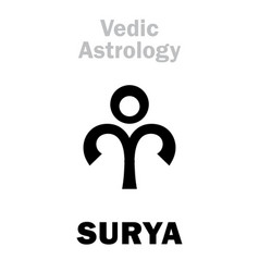 Astrology astral planet surya vector