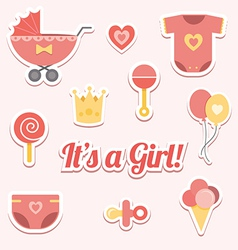 Baby shower for a girl vector image