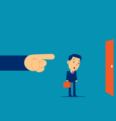 being fired manager finger showing exit door vector image