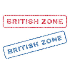 British zone textile stamps vector