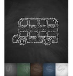 Bus icon hand drawn vector