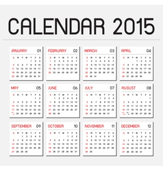 Calendar 2015 01 vector