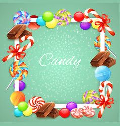 Candies frame background vector