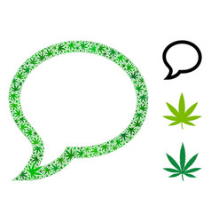 Chat message collage of marijuana vector