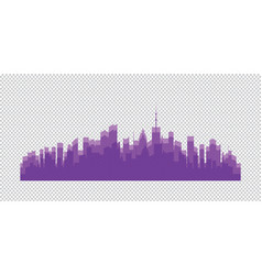 city buildings silhouettes and colors vector image
