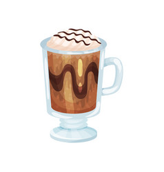 coffee smoothie with whipped cream refreshment vector image