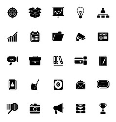 Data and information icons on white background vector image