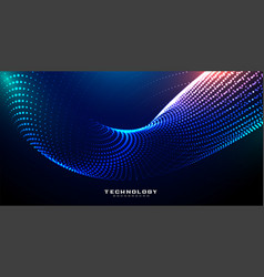 Digital technology shiny particles background vector