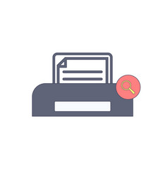 Document paper print printer search icon vector