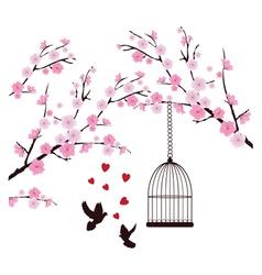 dove love cage vector image