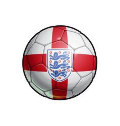 english national football team - soccer ball vector image