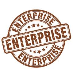 Enterprise brown grunge stamp vector
