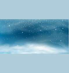 falling snow winter christmas landscape with cold vector image
