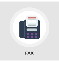 Fax flat icon vector