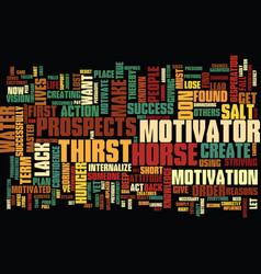 find the motivator that creates hunger text vector image