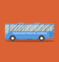 flat bus vector image