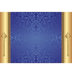 gold blue background vector image