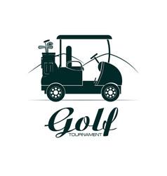 Golf sport tournament vector